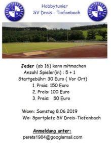 Hobbyturnier SV Dreis-Tiefenbach 2019