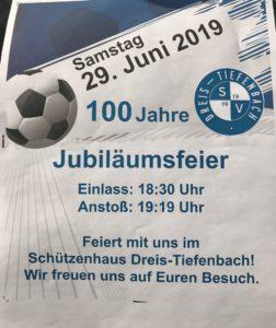 100 Jahr Feier SV Dreis-Tiefenbach im Schützenhaus!