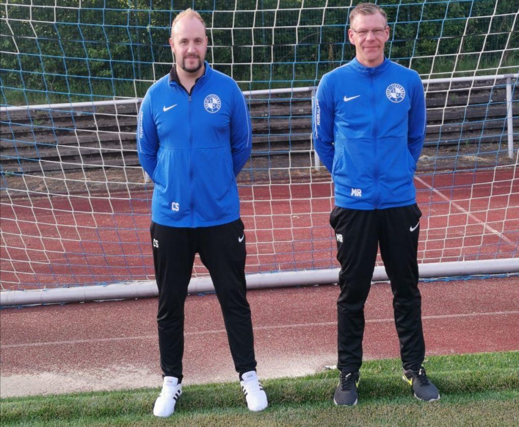 von links: Christian Schmidt (Trainer 2. Mannschaft), Matthias Rode (Co-Trainer 2. Mannschaft)